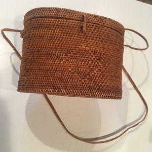 Vintage Nantucket Straw Purse Bag